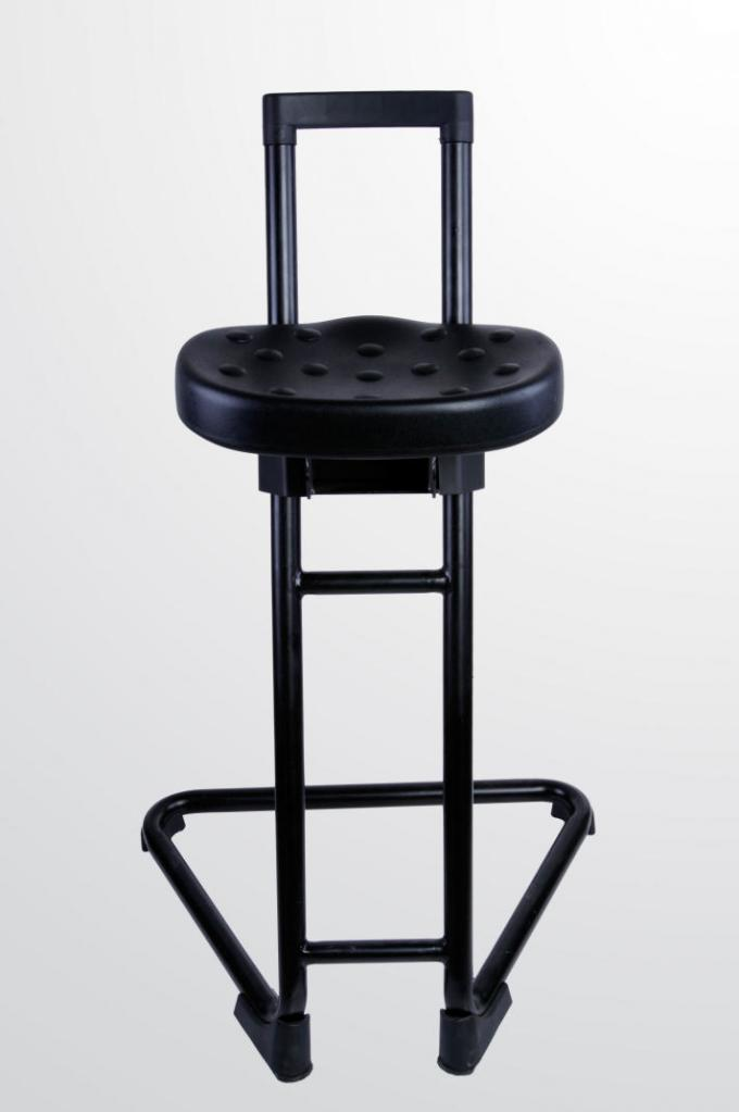 Lab Standing Chairs Cold Rolled Steel Material Novel Structure Simple PU Foam Seat