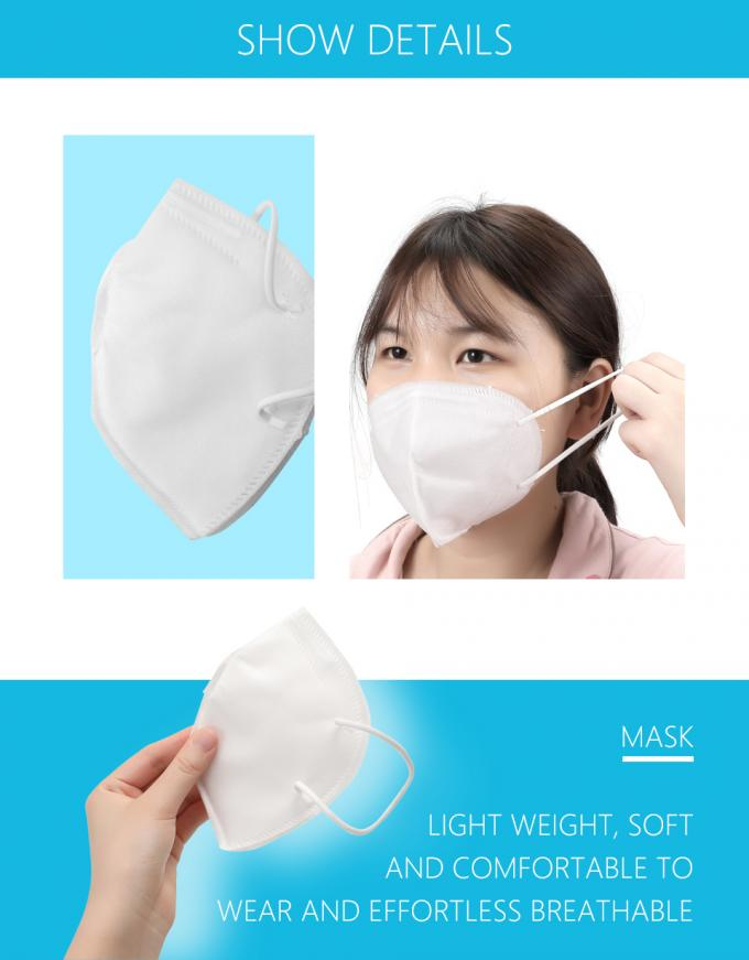 Custom N95 Face Mask Cover Anti Dust Non Woven Fabric Material