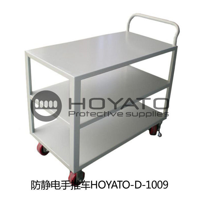 Durable Convenient Anti Static Stainless Steel Trolley For Laboratory / Food Industry