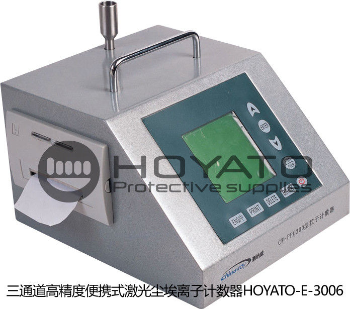 High Precision Portable Airborne Particle Counter , Three Channels Laser Particle Counter