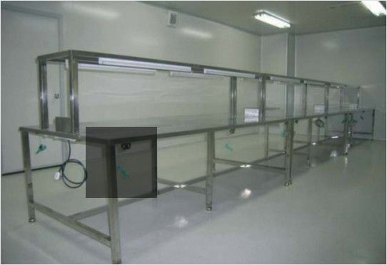 ESD Anti Static Clean Room Equipment Two Layer Stainless Steel Work Bench Table