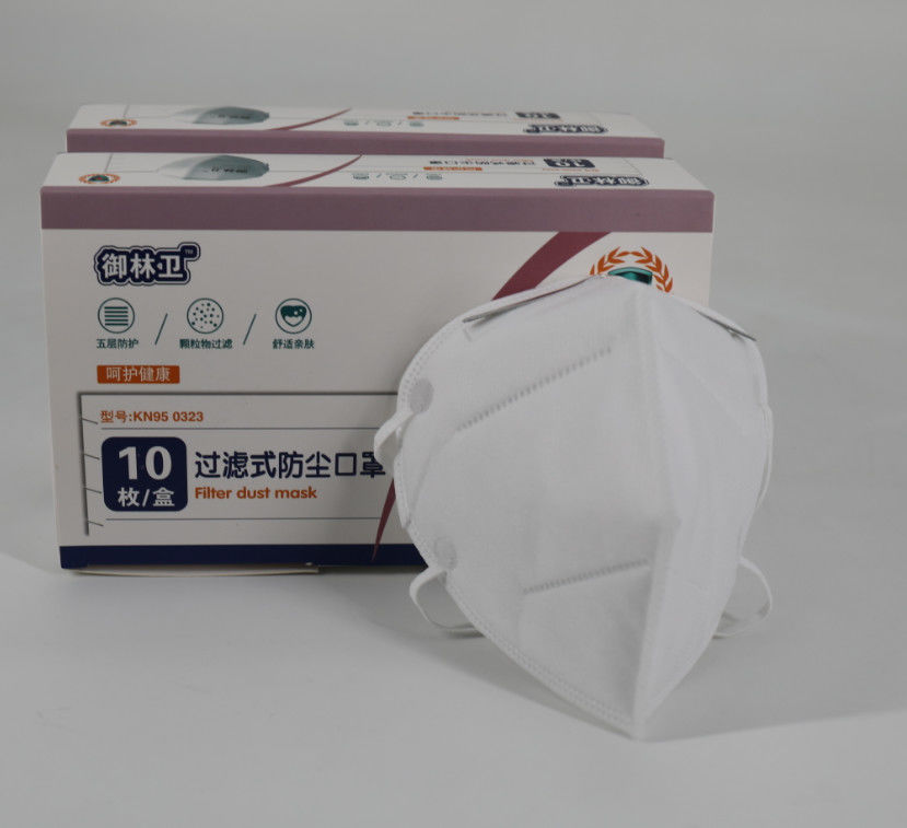 Filter Non Woven Respirator N95 Face Mask Lower Breathing Resistance