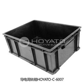 China Non Toxic  ESD Consumables Durable Anti Static Conductive Turnover Box factory