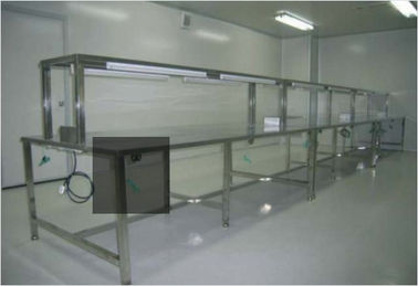 China ESD Anti Static Clean Room Equipment Two Layer Stainless Steel Work Bench Table factory